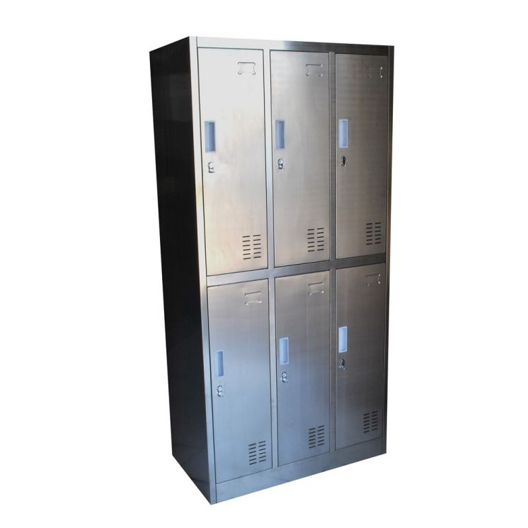 Lockers Acero Inoxidable 6 Casilleros